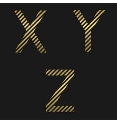 Golden letter set vector