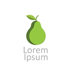 Green pear icon logotype vector
