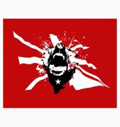 Grunge print vector