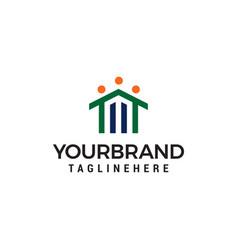 home healthy logo design concept template vector image