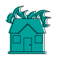 House on fire icon image vector