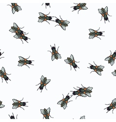 Humor seamless pattern with fly vector