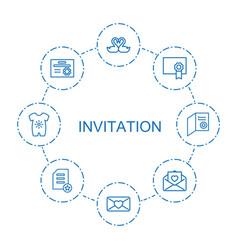 Invitation icons vector