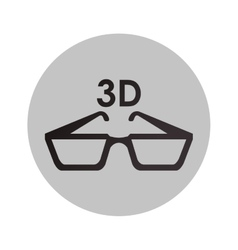 Isolated 3d glasses design vector image