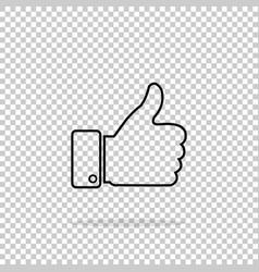 like icon on isolated background vector image