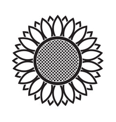 line icon sunflower vector image