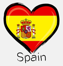 love Spain flag vector image