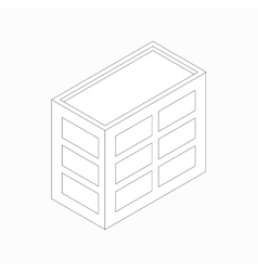 Low-rise office building icon isometric 3d style vector image