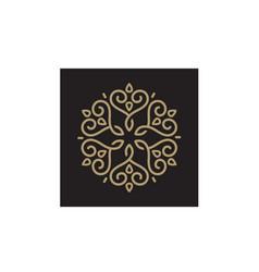 Mandala ornament pattern line art hart love logo vector