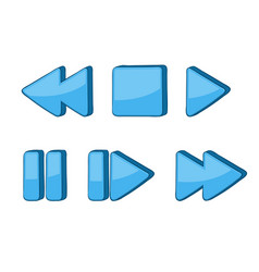 Media buttons blue signs vector