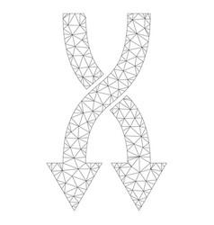 mesh shuffle arrows down icon vector image
