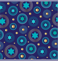 Mod jewish star background pattern vector