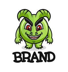Modern mascot is a monster logo vector