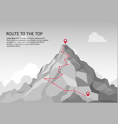 Mountain route infographic journey challenge path vector