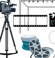 Movie gear vector