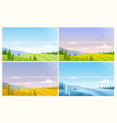 nature landscape in season different season vector image