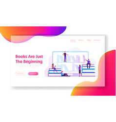 online library website landing page people vector image