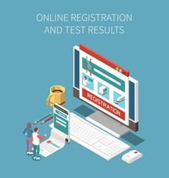 Online test result composition vector
