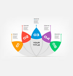 ova-lotus text infographic templates for business vector image
