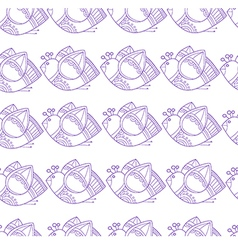 Pattern with stylized birds on white background vector image
