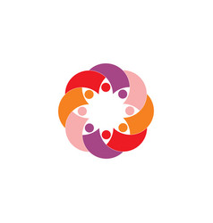 people icon team logo symbol sign vector image