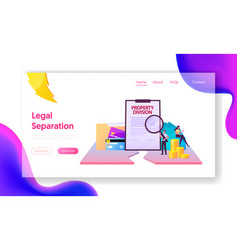 Protection interests legality landing page vector