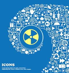 radioactive icon Nice set of beautiful icons vector image
