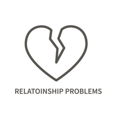 relationship problem icon vector image