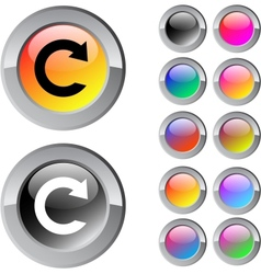 Reload multicolor round button vector image