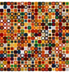 Retro abstract seamless pattern Square pixel vector image