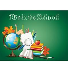 school globe tools background vector image