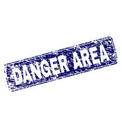scratched danger area framed rounded rectangle vector image