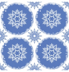 seamless background with snowflake vector image