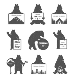 Set Bears vector