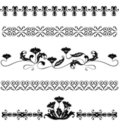 Set elements for design flowers vector image
