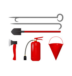 Set for fire fighting vector