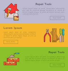 Set of banners - building tools vector image