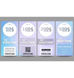 Set of modern gift voucher templates Abstract vector image