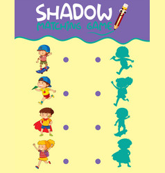 shadow matching game template vector image