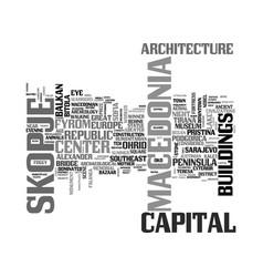 Skopje word cloud concept vector
