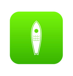 surfboard icon digital green vector image