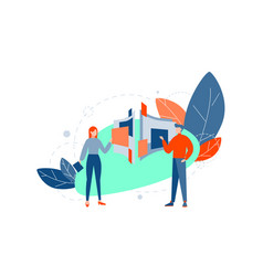 team coworking partnership business concept vector image