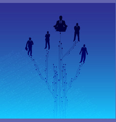 technology or network background design vector image