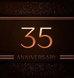 Thirty five years anniversary celebration logotype vector
