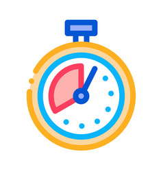 Timer stopwatch icon outline vector