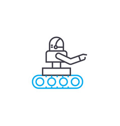 use of robots linear icon concept use of robots vector image