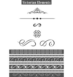 victorian elements vector image