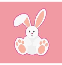 White easter rabbit vector