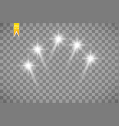 white transparent energy spotlight scene vector image