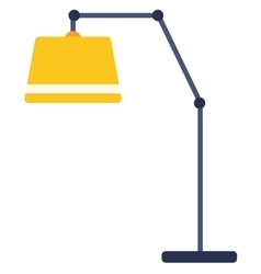 Yellow floor lamp vector image